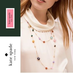 Kate Spade on the rocks scatter necklace